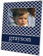 F2857 - Chelsea Navy Personalized Picture Frame