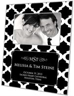 F2858-I - Black Chelsea Grande Personalized Picture Frame