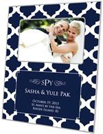F2859-I- Navy Chelsea Grande Personalized Picture Frame