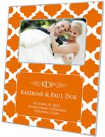 F2864-I - Orange Chelsea Grande Personalized Picture Frame