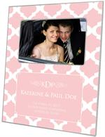 F2865-I - Pink Chelsea Grande Personalized Picture Frame