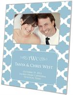 F2866-I - Blue Chelsea Grande Personalized Picture Frame