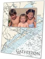 F2895 - Galveston Texas Nautical Chart Picture Frame