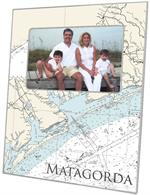 F2896 - Matagorda Texas Nautical Chart Picture Frame