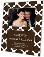 F2902-I - Brown Chelsea Grande Personalized Picture Frame