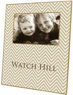 F2921 - Tan Chevron Personalized Picture Frame