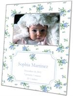 M2926-I-Sweet Pea Blue Birth Announcement