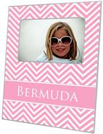 F2927-Pink Chevron Picture Frame