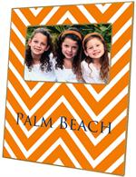 F2928-Chevron Grande Orange Picture Frame