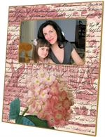 F295-Pink Hydrangea Plain Picture Frame
