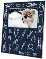 F2975-Vintage Nautical Knot Navy Picture Frame