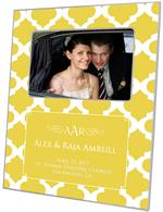 F2985-I - Yellow Chelsea Grande Personalized Picture Frame