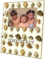 F398-Pale Shells Personalized Picture Frame