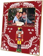 F419-Nutcracker on Red Provencial Picture Frame