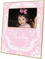 F530-Light Pink Provencial Personalized Picture Frame