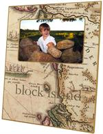 F576-New England Map Personalized Picture  Frame