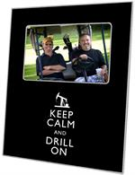 F8037-Keep Calm and Drill On Picture Frame-1