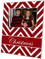 F8039 - Red Chevron Grande Personalized Picture Frame