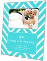 F8051-I - Turquoise Chevron Grande Personalized Picture Frame