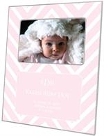 F8057-I - Light Pink Chevron Grande Personalized Picture Frame