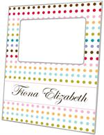 F8256-Colored Dots Picture Frame
