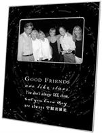 F8312-Good Friends are like stars quote Picture Frame Black