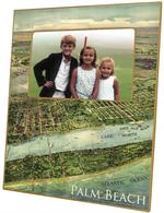 F8487- Palm Beach Antique Map Picture Frame