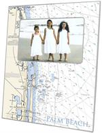 F8488- Palm Beach Nautical Chart Picture Frame