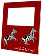 F8490 - Zebra Trot Red Picture Frame