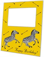 F8491 - Zebra Trot Yellow Picture Frame