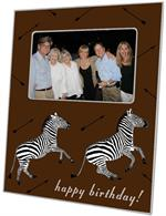 F8492 - Zebra Trot Brown Picture Frame