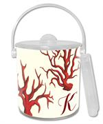 IB1192-Red Coral Personalized  Ice Bucket