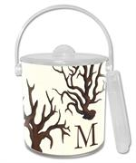 IB1263-Brown Coral Personalized  Ice Bucket