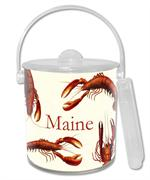 IB1400-Antique Lobsters Personalized  Ice Bucket