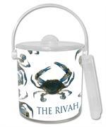IB1517-Blue Crab  Ice Bucket