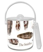 IB1847-Brown Island Shells  Ice Bucket