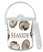 IB2405 - Taupe Shells Personalized  Ice Bucket