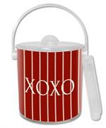 IB2445 Avery Red Personalized  Ice Bucket