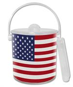 IB2718-American Flag Personalized  Ice Bucket