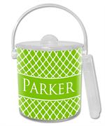 IB2856-I - Chelsea Lime Personalized  Ice Bucket