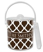 IB2902 - Brown Chelsea Grande Personalized Ice Bucket