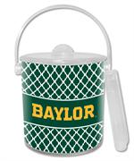 IB3112-Gold Baylor on Green Chelsea Ice Bucket