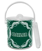 IB3114-White Baylor on Green Provencial Ice Bucket
