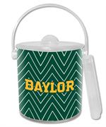 IB3116-Gold Baylor Green Chevron Ice Bucket