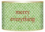 LB2777- Green Holiday Ikat Christmas Card Holder