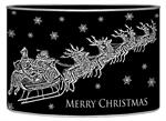 LB2787- Dash Away Black Santa & Sleigh Decoupage Christmas Card Holder