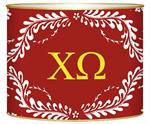 L909 - Red Provencial -Chi Omega Greek Letter Box
