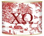 L919 - Red Toile- Chi Omega Letter Box