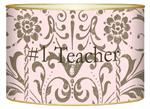 L1289 - Pink & Taupe Damask Letter Box
