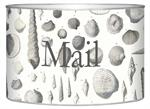 L1414 - Grey Shells Letter Box